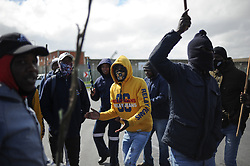 South Africa - Cape Town - 30 September 2020 - Contract workers at Astron Energy Refinery in Milnerton protest peacefully outside one of the entrances. The company is accused of failing to pay UIF Covid-19 Ters benefits to some of its contract workers. The individuals concerned are working for contracting companies at the Astron Energy refinery in Milnerton. Picture: Henk Kruger/African News Agency(ANA)(ANATOPIX)