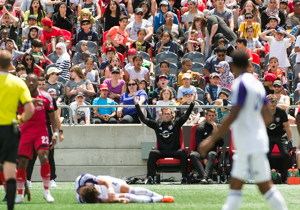 OTTAWA, ON - JUNE 20: USL match between the Ottawa Fury FC and Orlando City B at TD Place Stadium in Ottawa, ON. Canada on June 20, 2017.<br /> <br /> PHOTO: Steve Kingsman/Freestyle Photography/Ottawa Fury FC