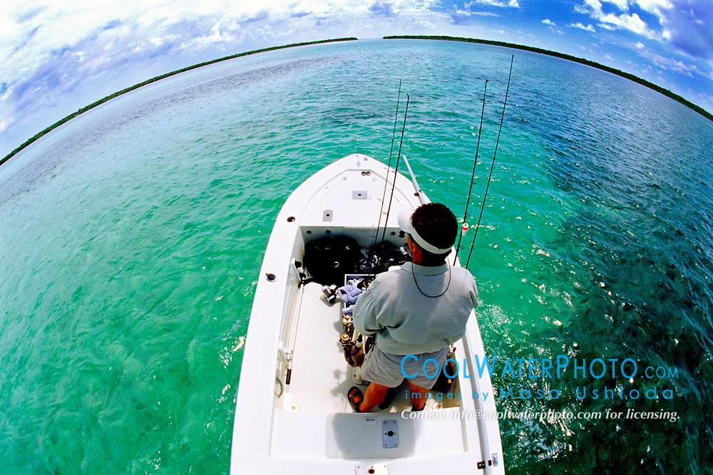 fishing at Sands Cut, Sands Key (left) and Elliott Key (right), Biscayne National Park, Florida, USA, Atlantic Ocean