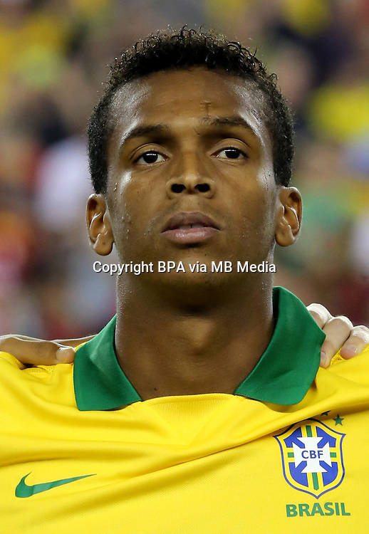 Football Fifa Brazil 2014 World Cup Matchs-Friendly / <br /> Brazil vs  Portugal 3-1  ( Gillette Stadium - Boston , Usa )<br /> JO Joao Alves of Brazil  , during the Friendly match between Brazil and Portugal