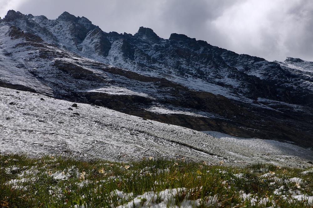 Snowy slopes of Fuscher-Kar-Kopf Mountain, Hohe Tauern National Park, Carinthia, Austria