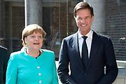 uUitreiking van de Four Freedoms Awards 2016 aan de Duitse bondskanselier Angela Merkel in de Nieuwe Kerk in Middelburg. De Four Freedom Awards is een prijs voor  de inzet van de vrijheid van meningsuiting, de vrijheid van godsdienst, de vrijwaring van gebrek en de vrijwaring van vrees.<br /> <br /> Presentation of the Four Freedoms Awards in 2016 to German Chancellor Angela Merkel in the Nieuwe Kerk in Middelburg. The Four Freedom Awards is a price for the use of freedom of expression, freedom of religion, freedom from want and freedom from fear.<br /> <br /> Op de foto / On the photo: Duitse bondskanselier Angela Merkel en premier Mark Rutte  ////  German Chancellor Angela Merkel and Prime Minister Mark Rutte