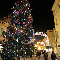 Europe, France, Menton. Christmas in Menton