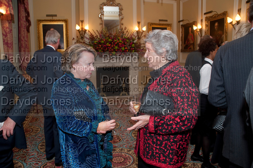 SALLY ANN WHETHERLY; MRS. STEPHEN JOSEPH, The Lady Joseph Trust, fundraising party.<br /> Camilla, Duchess of Cornwall  attends gala fundraising event as newly appointed President of the charity. The Lady Joseph Trust was formed in 2009 to raise funds to acquire horses for the UKÕs top Paralympic riders Cavalry and Guards Club, 127 Piccadilly, London,<br /> 26 October 2011. <br /> <br />  , -DO NOT ARCHIVE-© Copyright Photograph by Dafydd Jones. 248 Clapham Rd. London SW9 0PZ. Tel 0207 820 0771. www.dafjones.com.<br /> SALLY ANN WHETHERLY; MRS. STEPHEN JOSEPH, The Lady Joseph Trust, fundraising party.<br /> Camilla, Duchess of Cornwall  attends gala fundraising event as newly appointed President of the charity. The Lady Joseph Trust was formed in 2009 to raise funds to acquire horses for the UK's top Paralympic riders Cavalry and Guards Club, 127 Piccadilly, London,<br /> 26 October 2011. <br /> <br />  , -DO NOT ARCHIVE-© Copyright Photograph by Dafydd Jones. 248 Clapham Rd. London SW9 0PZ. Tel 0207 820 0771. www.dafjones.com.