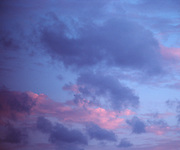 Evening Sky with Pink Clouds.