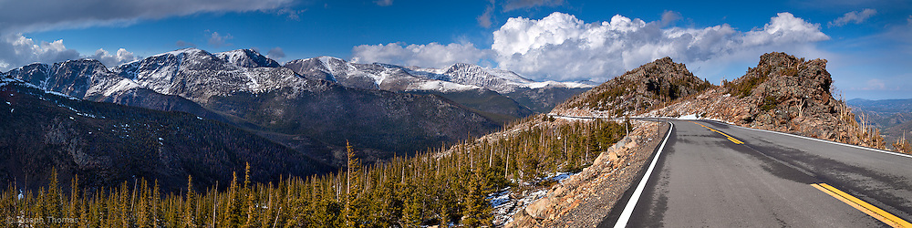 Trail Ridge Road is the highest continuous road in North America.