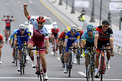 February 14, 2018 - Muscat, Oman - Muscat, Sultanate of Oman - February 14 :  NATHAN HAAS (TEAM KATUSHA ALPECIN), VAN AVERMAET Greg  (BEL)  of BMC Racing Team  during stage 2 of the 9th edition of the 2018 Tour of Oman cycling race, a stage of 167.5 kms between Sultan Qaboos University and Al Bustan on February 14, 2018 in Muscat, Sultanate of Oman, 14/02/2018 (Credit Image: © Panoramic via ZUMA Press)