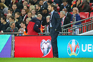 Gareth Southgate. Manager of England during the UEFA European 2020 Qualifier match between England and Czech Republic at Wembley Stadium, London, England on 22 March 2019.
