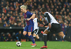 February 8, 2018 - Valencia, Valencia, Spain - Ivan Rakitic FC Barcelona during the spanish Copa del Rey semi-final, second leg match between Valencia CF and FC Barcelona at Mestalla Stadium, on February 8, 2018 in Valencia, Spain  (Credit Image: © Maria Jose Segovia/NurPhoto via ZUMA Press)