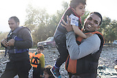 Migrants in Lesbos