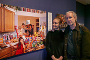 Napa, California. Peter Menzel & Faith D'Aluisio at the photo exhibit of their project Hungry Planet: What the World Eats, at Copia: The American Center for Food, Wine and the Arts.