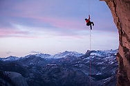 Jimmy Chin at work on the Northwest Face of Halfdome.