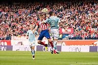 Atletico de Madrid's Gabi and Celta de Vigo's P. Hernandez during La Liga Match at Vicente Calderon Stadium in Madrid. May 14, 2016. (ALTERPHOTOS/BorjaB.Hojas)