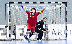 07.01.2017, BSFZ Suedstadt, Maria Enzersdorf, AUT, IHF Junior WM 2017 Qualifikation, Österreich vs Tschechische Republik, im Bild Jan Cmelik (CZE) // during the IHF Men's Junior World Championships qualifying match between Austria and Czech Republic at the BSFZ Suedstadt, Maria Enzersdorf, Austria on 2017/01/07, EXPA Pictures © 2017, PhotoCredit: EXPA/ Sebastian Pucher