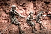 Tug O'War Bronze statue by W. Stanley Proctor.  Sedona, Arizona, USA