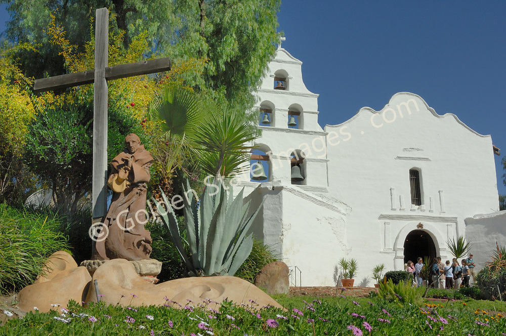 First of the 21 Missions and first church to be established in California.<br /> <br /> Founded by father Junipero Serra in July of 1769. The current mission sits on the original site but has been remodeled and rebuilt several times in its history.<br /> <br /> The mission is still an active Catholic Parish.