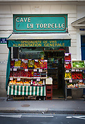 Small grocery store in central Paris, France
