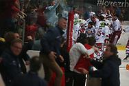 (SCRJ) gegen (Kloten) im siebten Ligaquali Spiel der National League zwischen den SC Rapperswil-Jona Lakers und dem EHC Kloten, am Mittwoch, 25. April 2018, in der Swiss Arena Kloten. (Thomas Oswald)