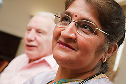 Elderly people in meeting,