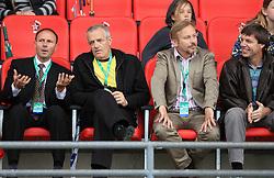 Boris Mikuc, Janko Dvorsak, President of AZS Peter Kukovica at 4th Memorial of Matic Sustersic and Patrik Cvetan athletic meeting of Grand Prix Vzajemna, on June 1, 2009, in ZAK, Ljubljana, Slovenia. (Photo by Vid Ponikvar / Sportida)