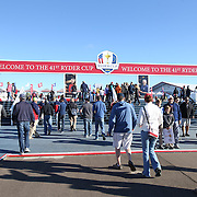 Ryder Cup 2016. Fans arriving to watch practice day at the Hazeltine National Golf Club on September 29, 2016 in Chaska, Minnesota.  (Photo by Tim Clayton/Corbis via Getty Images)