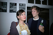 LAURA K. JONES AND HENRY HUDSON,  Twenty Hoxton Square. Opening exhibition of new gallery at Twenty Hoxton Square. -DO NOT ARCHIVE-© Copyright Photograph by Dafydd Jones. 248 Clapham Rd. London SW9 0PZ. Tel 0207 820 0771. www.dafjones.com.