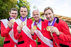 VERLOOY Jos (BEL), WATHELET Gregory (BEL), GUERY Jerome (BEL), DEVOS Pieter (BEL)<br /> Rotterdam - Europameisterschaft Dressur, Springen und Para-Dressur 2019<br /> Impressionen am Rande<br /> Longines FEI Jumping European Championship part 2 - team 2nd and final round<br /> Finale Teamwertung 2. Runde<br /> 23. August 2019<br /> © www.sportfotos-lafrentz.de/Stefan Lafrentz