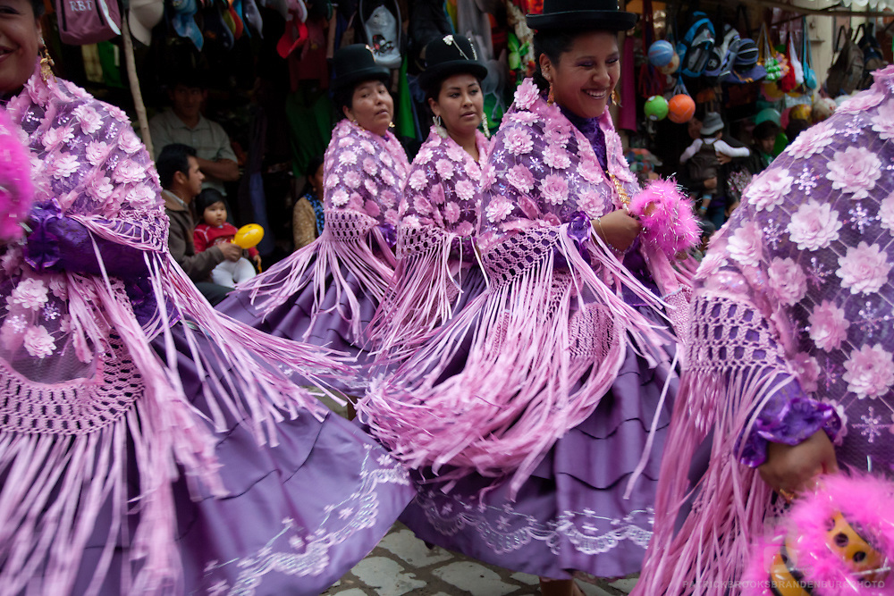 The 200 year anniversary of the small town of Coroico. Every year this small town outside of La Paz celebrates there anniversary and brings dancers and marching bands from all over the country to help it celebrate in traditional Bolivian afair.