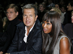 File photo : Mario Testino and Naomi Campbell attending the Yves Saint Laurent Spring-Summer 2009 Ready-to-Wear collection show in Paris, France on October 2, 2008. Photographer to the stars Mario Testino is a favourite of the Royal Family but he is facing a stream of sexual misconduct allegations from male models. Fashion brands Burberry and Michael Kors moved quickly to cut ties with him. He had been a front-runner to be the official photographer at the wedding of Prince Harry and Meghan Markle but has been ruled out following the uproar. Photo by Marco Vitchi/ABACAPRESS.COM