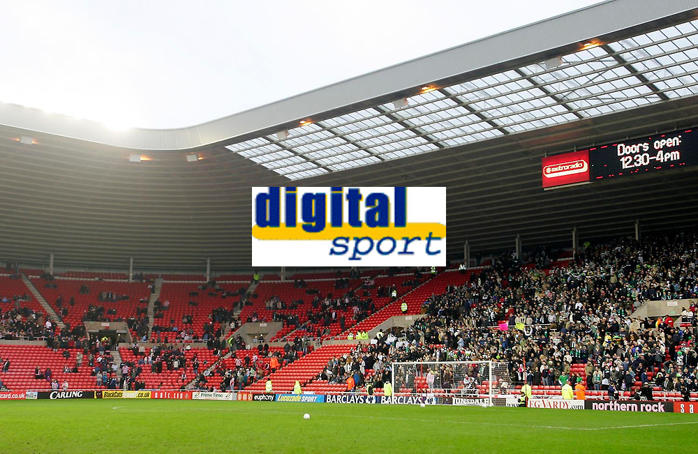 Photo: Andrew Unwin.<br />Sunderland v Northwich Victoria. The FA Cup. 08/01/2006.<br />The away end is full of Northwich Victoria supporters but only a view Sunderland fans have come to the game.