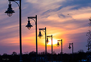 St Mary's by the Sea Lightpost Sunset