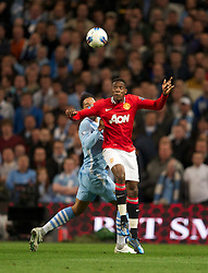 MANCHESTER, ENGLAND - Monday, April 30, 2012: Manchester City's Daniel Wellbeck in action against Manchester United during the Premiership match at the City of Manchester Stadium. (Pic by David Rawcliffe/Propaganda)