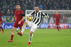 December 23, 2017 - Turin, Piedmont, Italy - Gonzalo Higuain (Juventus FC) in action during the Series A football match between Juventus FC and AS Roma at Allianz Stadium on 23 December, 2017 in Turin, Italy. .Juventus won 1-0 over Roma. (Credit Image: © Massimiliano Ferraro/NurPhoto via ZUMA Press)