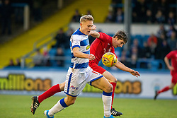Brora Rangers Colin Williamson and Morton's Cameron Salkeld. Morton 1 v 1 Brora Rangers, 3rd Round of the Scottish Cup played 23/11/2019 at Cappielow, Greenock.