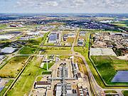 Nederland, Noord-Holland, Alkmaar, 07-05-2021; Industriegebied Boekelermeer met in de voorgrond installatie van TAQA.<br /> <br /> luchtfoto (toeslag op standard tarieven);<br /> aerial photo (additional fee required)<br /> copyright © 2021 foto/photo Siebe Swart