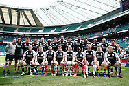Picture by Andrew Tobin/Focus Images Ltd +44 7710 761829.26/05/2013.Barbarians team lineup before the match between England and the Barbarians at Twickenham Stadium, Twickenham.