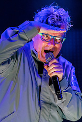 """NEWPORT BEACH, California/USA (Saturday, September 15, 2012) -  Founder and lead singer Mark Mothersbaugh of American punk rock/new wave band DEVO gave a solid performance at the 2012 Taste of Newport in Newport Beach, CA. They performed some of their hits including """"Whip it"""".  Blondie and Devo are co-headlining """"Whip It To Shreds"""" 13 select cities U.S. tour. Byline and/or web usage link must read PHOTO © Eduardo E. Silva/SILVEX.PHOTOSHELTER.COM."""