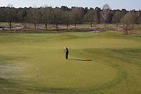 LOCHEM - puttingreen,Lochemse golfclub de Graafschap in de winter. COPYRIGHT KOEN SUYK