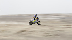PISCO, Jan. 8, 2018  Fausto Vignola of Italy competes during the 2018 Dakar Rally Race Stage 2 in Pisco, Peru, on Jan. 7, 2018. (Credit Image: © Li Ming/Xinhua via ZUMA Wire)