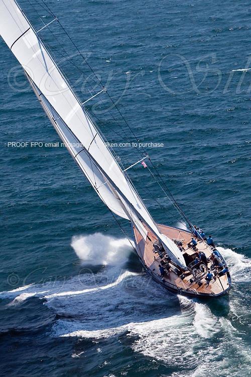 Hanuman, J Class, sailing in race 1 during the Newport Bucket Regatta.