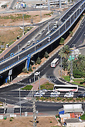 Israel, Haifa. The Check Post intersection overpass