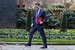 London, UK. 18th December, 2018. Greg Clark MP, Secretary of State for Business, Energy and Industrial Strategy, arrives at 10 Downing Street for the final Cabinet meeting before the Christmas recess. Topics to be discussed were expected to include preparations for a 'No Deal' Brexit.