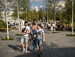 July 13, 2018 - Moscow, Russia - 180713 General view of a park in central Moscow during the FIFA World Cup on July 13, 2018 in Moscow..Photo: Petter Arvidson / BILDBYRN / kod PA / 92086 (Credit Image: © Petter Arvidson/Bildbyran via ZUMA Press)