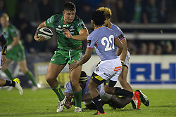 September 9, 2017 - Galway, Ireland - Dave Heffernan of Connacht tackled by Oliver Zono of S.Kings during the Guinness PRO14 rugby match between Connacht Rugby and Southern Kings at the Sportsground in Galway, Ireland on September 9, 2017  (Credit Image: © Andrew Surma/NurPhoto via ZUMA Press)