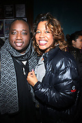 l to r : Sydney Margretson and Danyel Smith at The Vibe Magazine VIP Celebration for Vibe's December cover featuring the first New York show of Plies, held at The Knitting Factory on November 24, 2008 in NYC