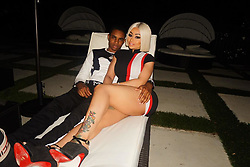 """Blac Chyna releases a photo on Instagram with the following caption: """"\u2665\ufe0f @ybnalmightyjay"""". Photo Credit: Instagram *** No USA Distribution *** For Editorial Use Only *** Not to be Published in Books or Photo Books ***  Please note: Fees charged by the agency are for the agency's services only, and do not, nor are they intended to, convey to the user any ownership of Copyright or License in the material. The agency does not claim any ownership including but not limited to Copyright or License in the attached material. By publishing this material you expressly agree to indemnify and to hold the agency and its directors, shareholders and employees harmless from any loss, claims, damages, demands, expenses (including legal fees), or any causes of action or allegation against the agency arising out of or connected in any way with publication of the material."""