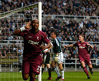 Photo: Jed Wee.<br /> Newcastle United v Bolton Wanderers. The Barclays Premiership. 15/10/2006.<br /> <br /> Bolton's El Hadji Diouf celebrates after scoring his first goal.