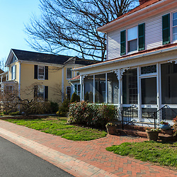 St. Michaels, MD, USA - March 30, 2013: Residential houses in St Michaels, Md