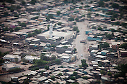 Aerial view on Djibouti. The worst slum of Djibouti, where French soldiers have been attacked in the past. .View over the slums of Balbala (meaning Lighthouse in Somalian language), on the edge of Djibouti...The geostrategical and geopolitical importance of the Republic of Djibouti, located on the Horn of Africa, by the Red Sea and the Gulf of Aden, and bordered by Eritrea, Ethiopia and Somalia.