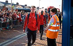 BLACKBURN, ENGLAND - Thursday, July 19, 2018: Liverpool's Ben Woodburn arrives at the stadium before a preseason friendly match between Blackburn Rovers FC and Liverpool FC at Ewood Park. (Pic by Paul Greenwood/Propaganda)